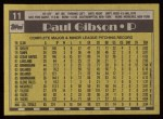 1990 Topps #11  Paul Gibson  Back Thumbnail