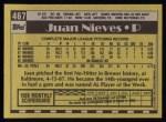 1990 Topps #467  Juan Nieves  Back Thumbnail
