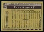1990 Topps #301  Don Aase  Back Thumbnail