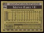 1990 Topps #149  Steve Farr  Back Thumbnail