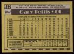 1990 Topps #512  Gary Pettis  Back Thumbnail