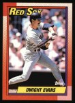 1990 Topps #375  Dwight Evans  Front Thumbnail