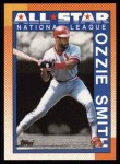1990 Topps #400   -  Ozzie Smith All-Star Front Thumbnail