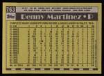 1990 Topps #763  Dennis Martinez  Back Thumbnail