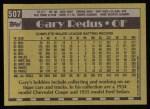 1990 Topps #507  Gary Redus  Back Thumbnail