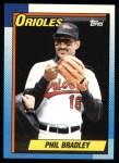 1990 Topps #163  Phil Bradley  Front Thumbnail