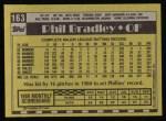1990 Topps #163  Phil Bradley  Back Thumbnail