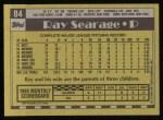 1990 Topps #84  Ray Searage  Back Thumbnail