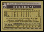 1990 Topps #786  Eric King  Back Thumbnail