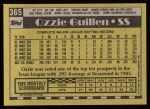 1990 Topps #365  Ozzie Guillen  Back Thumbnail