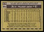 1990 Topps #578  Joe Magrane  Back Thumbnail