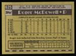 1990 Topps #625  Roger McDowell  Back Thumbnail