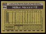1990 Topps #175  Mike Moore  Back Thumbnail