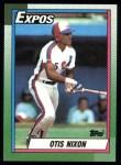 1990 Topps #252  Otis Nixon  Front Thumbnail