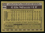 1990 Topps #252  Otis Nixon  Back Thumbnail