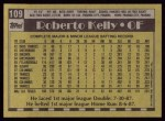 1990 Topps #109  Roberto Kelly  Back Thumbnail