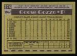 1990 Topps #274  Mauro Gozzo  Back Thumbnail