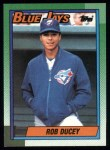 1990 Topps #619  Rob Ducey  Front Thumbnail