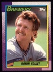 1990 Topps #290  Robin Yount  Front Thumbnail