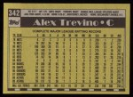 1990 Topps #342  Alex Trevino  Back Thumbnail