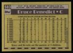 1990 Topps #583  Bruce Benedict  Back Thumbnail