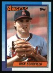 1990 Topps #189  Dick Schofield  Front Thumbnail