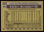 1990 Topps #216  Ricky Jordan  Back Thumbnail