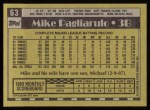 1990 Topps #63  Mike Pagliarulo  Back Thumbnail