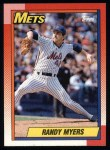 1990 Topps #105  Randy Myers  Front Thumbnail