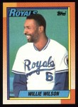 1990 Topps #323  Willie Wilson  Front Thumbnail