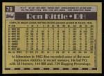1990 Topps #79  Ron Kittle  Back Thumbnail