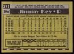 1990 Topps #371  Jimmy Key  Back Thumbnail