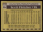 1990 Topps #565  Scott Fletcher  Back Thumbnail