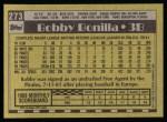 1990 Topps #273  Bobby Bonilla  Back Thumbnail