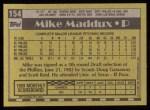 1990 Topps #154  Mike Maddux  Back Thumbnail