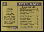 1990 Topps #401   -  Kevin Mitchell All-Star Back Thumbnail