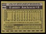 1990 Topps #445  Danny Jackson  Back Thumbnail