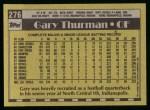 1990 Topps #276  Gary Thurman  Back Thumbnail