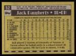 1990 Topps #52  Jack Daugherty  Back Thumbnail