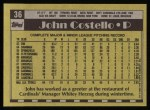 1990 Topps #36  John Costello  Back Thumbnail