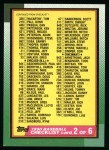 1990 Topps #262   Checklist 2 Front Thumbnail