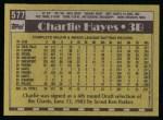 1990 Topps #577  Charlie Hayes  Back Thumbnail