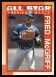 1990 Topps #385   -  Fred McGriff All-Star Front Thumbnail