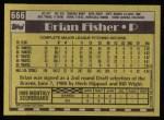 1990 Topps #666  Brian Fisher  Back Thumbnail