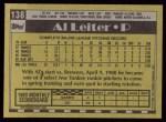 1990 Topps #138  Al Leiter  Back Thumbnail