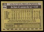 1990 Topps #29  John Cangelosi  Back Thumbnail