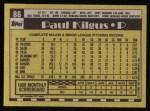 1990 Topps #86  Paul Kilgus  Back Thumbnail