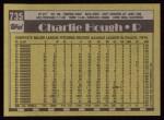 1990 Topps #735  Charlie Hough  Back Thumbnail