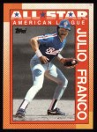 1990 Topps #386   -  Julio Franco All-Star Front Thumbnail