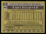 1990 Topps #39  Curt Ford  Back Thumbnail